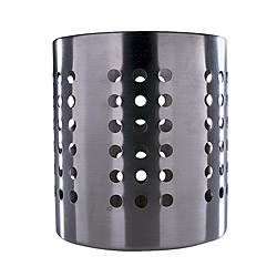 "ORDNING cutlery caddy, stainless steel Diameter: 4 3/4 "" Height: 5 3/8 "" Diameter: 12 cm Height: 13.5 cm"