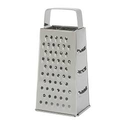 "IDEALISK grater, stainless steel Length: 4 3/4 "" Width: 3 7/8 "" Height: 7 7/8 "" Length: 12 cm Width: 10 cm Height: 20 cm"