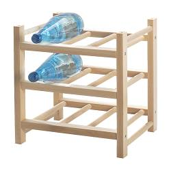 HUTTEN 9-bottle wine rack, solid wood