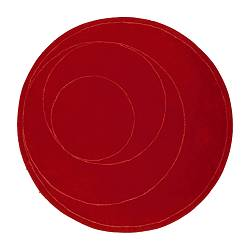Big red round carpet from ikea.com