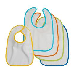KLADD baby-bib, assorted colours Length: 29 cm Width: 22 cm Package quantity: 5 pack