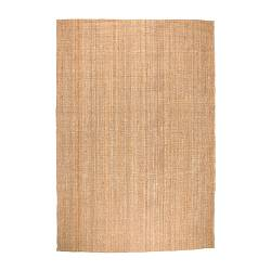 "TÅRNBY rug, flatwoven, natural Length: 8 ' 2 "" Width: 5 ' 11 "" Surface density: 12 oz/sq ft Length: 250 cm Width: 180 cm Surface density: 3600 g/m²"