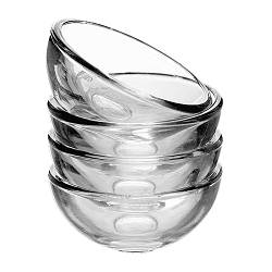 BLANDA bowl, clear glass Diameter: 5 cm Height: 2 cm Package quantity: 4 pack
