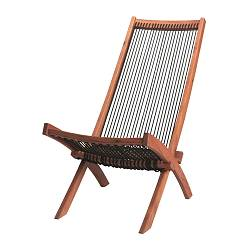 BROMMÖ chaise, outdoor, black, brown