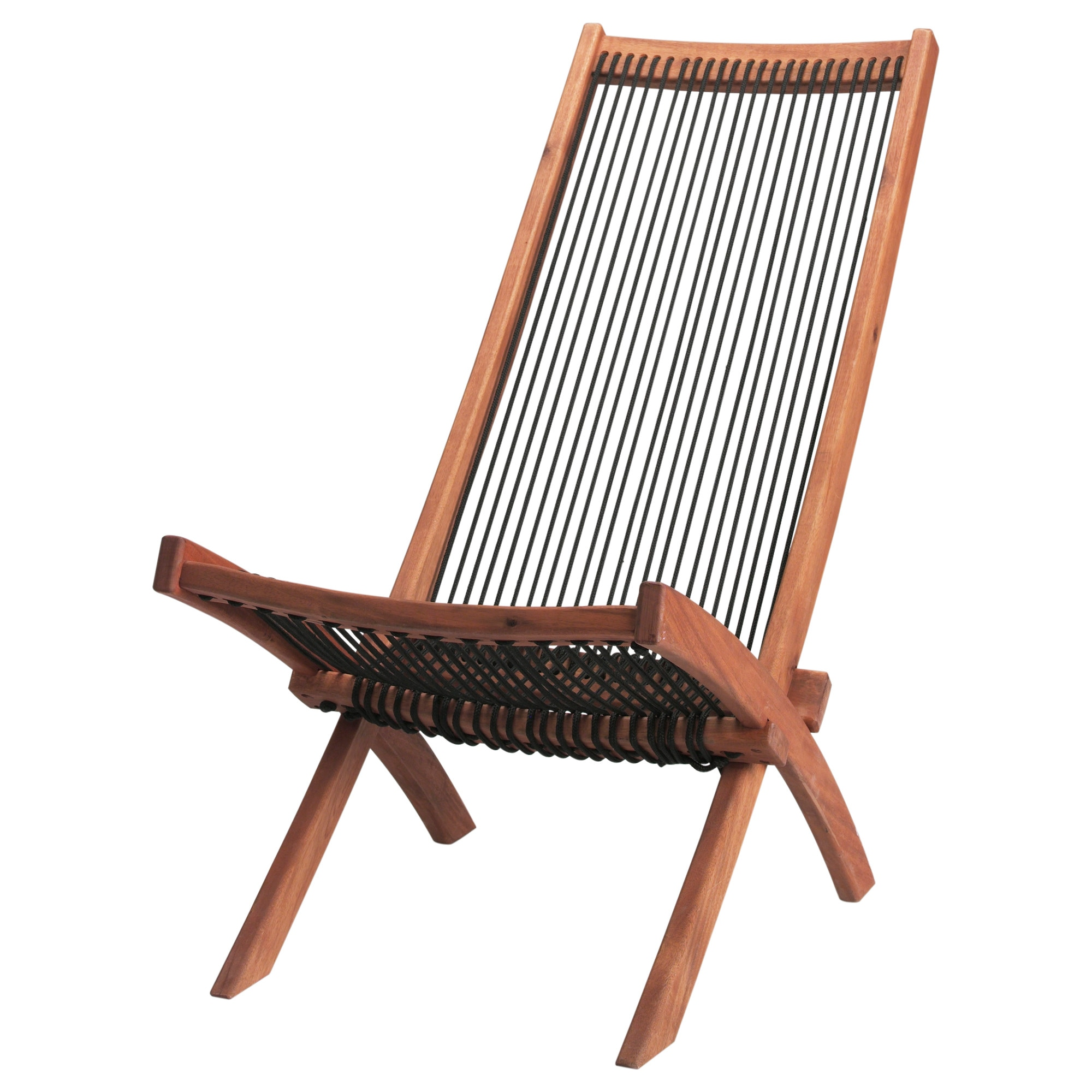Wood folding chair outdoor - Bromm Chaise Outdoor Black Brown Width 18 7 8 Depth