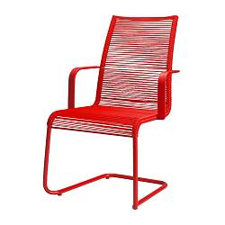 VÄSMAN chair with armrests, red Width: 54 cm Depth: 59 cm Height: 92 cm