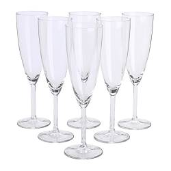 SVALKA champagne glass, clear glass Height: 22 cm Volume: 21 cl Package quantity: 6 pack