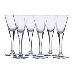 SVALKA snaps glass, clear glass Height: 14 cm Volume: 4 cl Package quantity: 6 pieces
