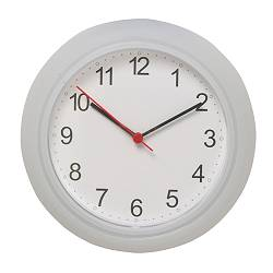 "RUSCH wall clock, white Depth: 1 ½ "" Diameter: 9 ¾ "" Depth: 4 cm Diameter: 25 cm"