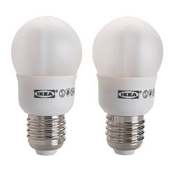 SPARSAM low-energy bulb E27, globe Power: 7 W Package quantity: 2 pack