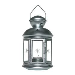 ROTERA lantern for tealight, galvanised in/outdoor galvanised