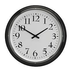BRAVUR wall clock, black Depth: 8 cm Diameter: 59 cm