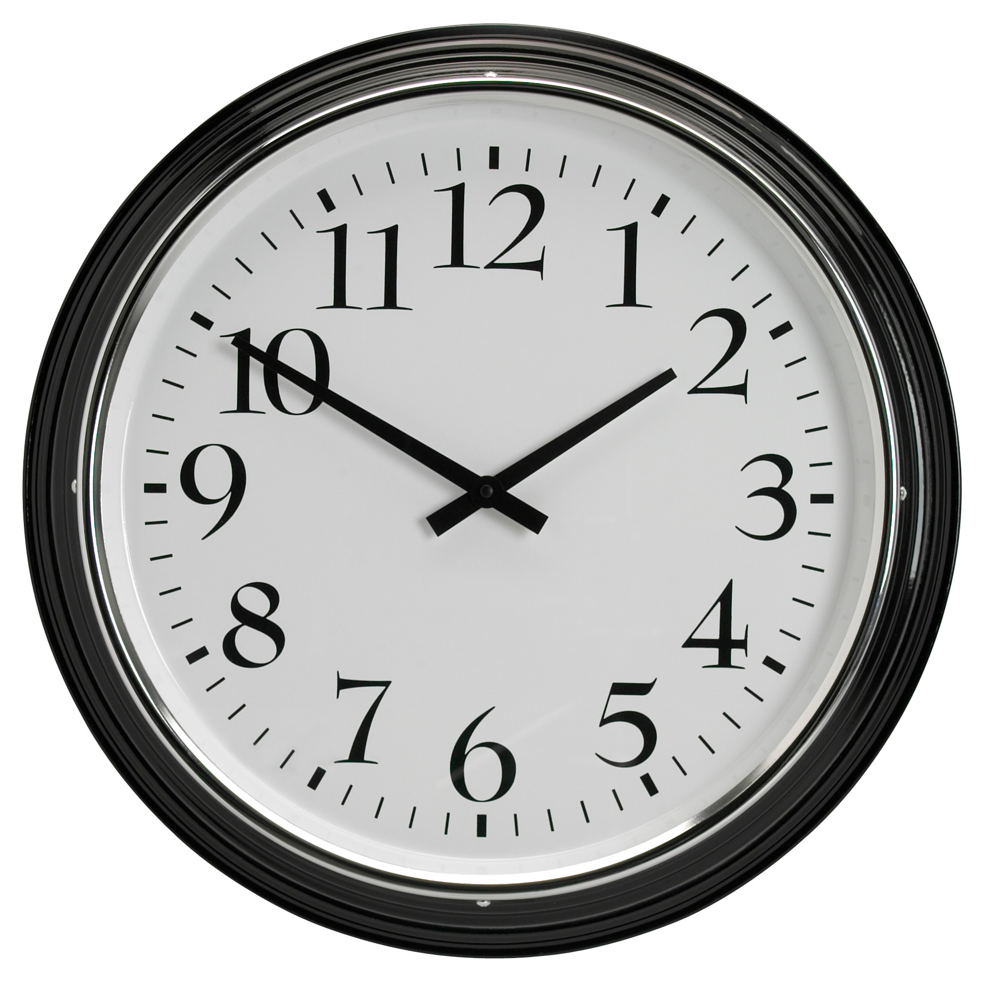 Wall clocks table clocks ikea bravur wall clock black depth 3 diameter 23 depth amipublicfo Image collections