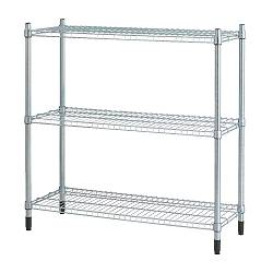 OLAUS shelving unit, galvanised