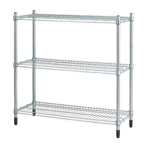 ikea metal shelving unit garage shop greenhouse racking. Black Bedroom Furniture Sets. Home Design Ideas
