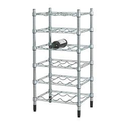OMAR bottle shelf, galvanised Width: 46 cm Depth: 36 cm Height: 92 cm