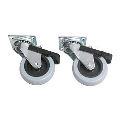 "RILL locking caster, gray Diameter: 3 "" Maximum load/caster: 121 lb Building height: 3 7/8 "" Diameter: 75 mm Maximum load/caster: 55 kg Building height: 10 cm"
