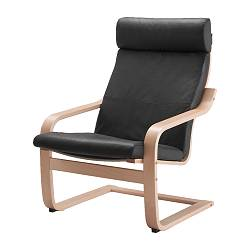 Beau POÄNG Armchair, Birch Veneer, Robust Glose Black. IKEA FAMILY Member Price