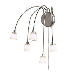 "KRYSSBO wall lamp, white, nickel plated Height: 17 "" Shade diameter: 2 "" Cord length: 8 ' 2 "" Height: 44 cm Shade diameter: 5 cm Cord length: 2.5 m"