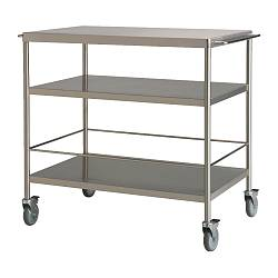FLYTTA kitchen trolley, stainless steel Length: 98 cm Width: 57 cm Height: 86 cm
