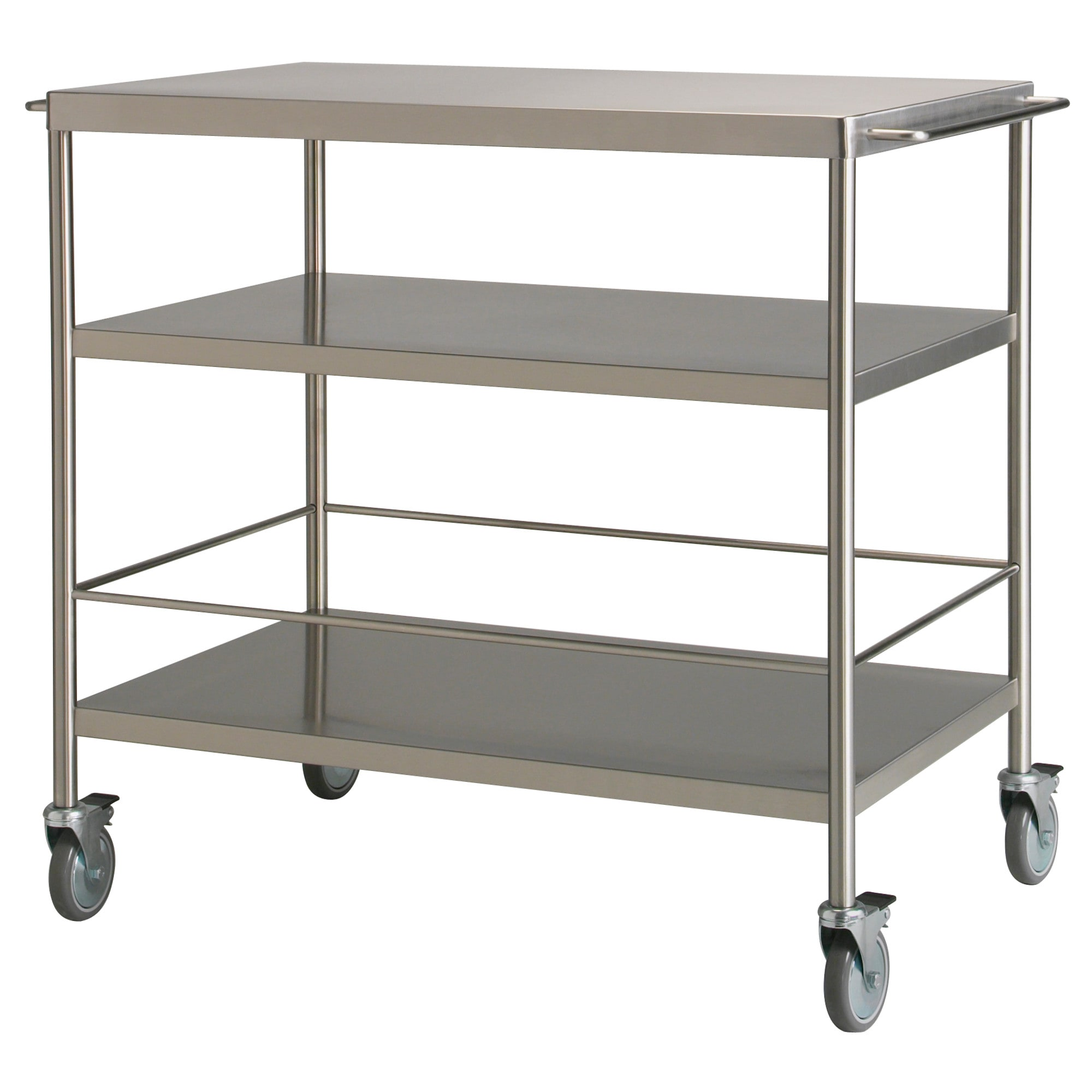 rolling kitchen chairs FLYTTA kitchen cart stainless steel Length 38 5 8 Width 22