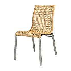 NANDOR chair, nickel-plated, sand Width: 46 cm Depth: 62 cm Height: 88 cm