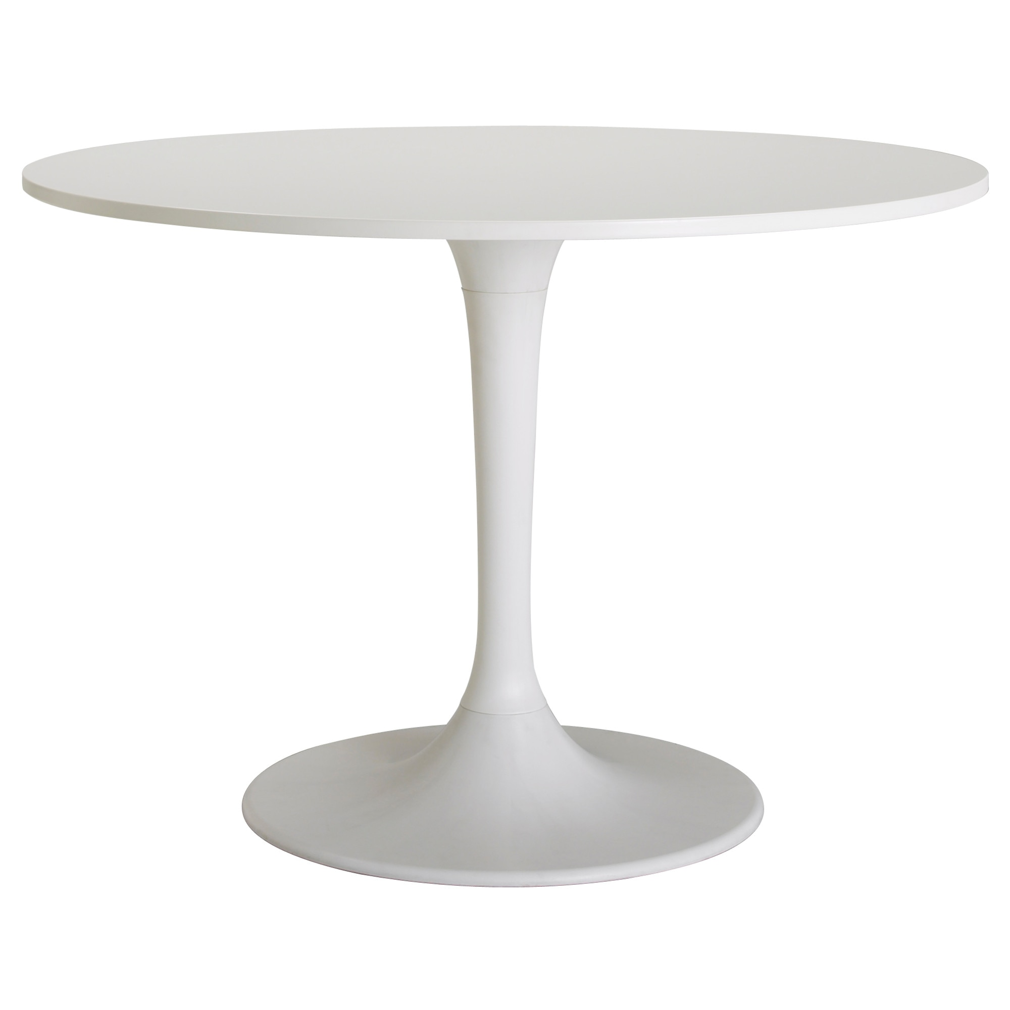 White Round Kitchen Table Docksta Table Ikea