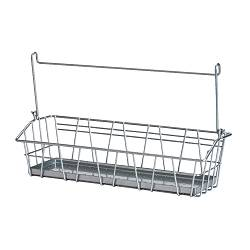 "BYGEL wire basket, silver color Length: 13 "" Width: 3 7/8 "" Height: 3 7/8 "" Length: 33 cm Width: 10 cm Height: 10 cm"