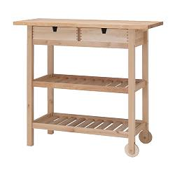 FÖRHÖJA kitchen cart, birch