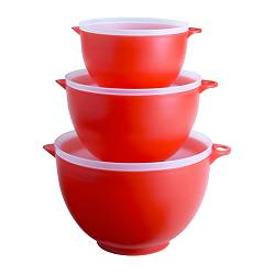 IKEA | home | Cookware | Kitchen accessories | Mixing bowls & pitchers | REDA Mixing bowl with lid, set of 3 from ikea.com