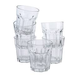 POKAL glass, clear glass Height: 8 cm Volume: 15 cl Package quantity: 6 pack