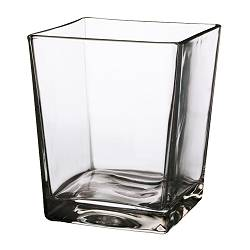 "KANIST vase, clear glass Height: 7 "" Height: 17 cm"