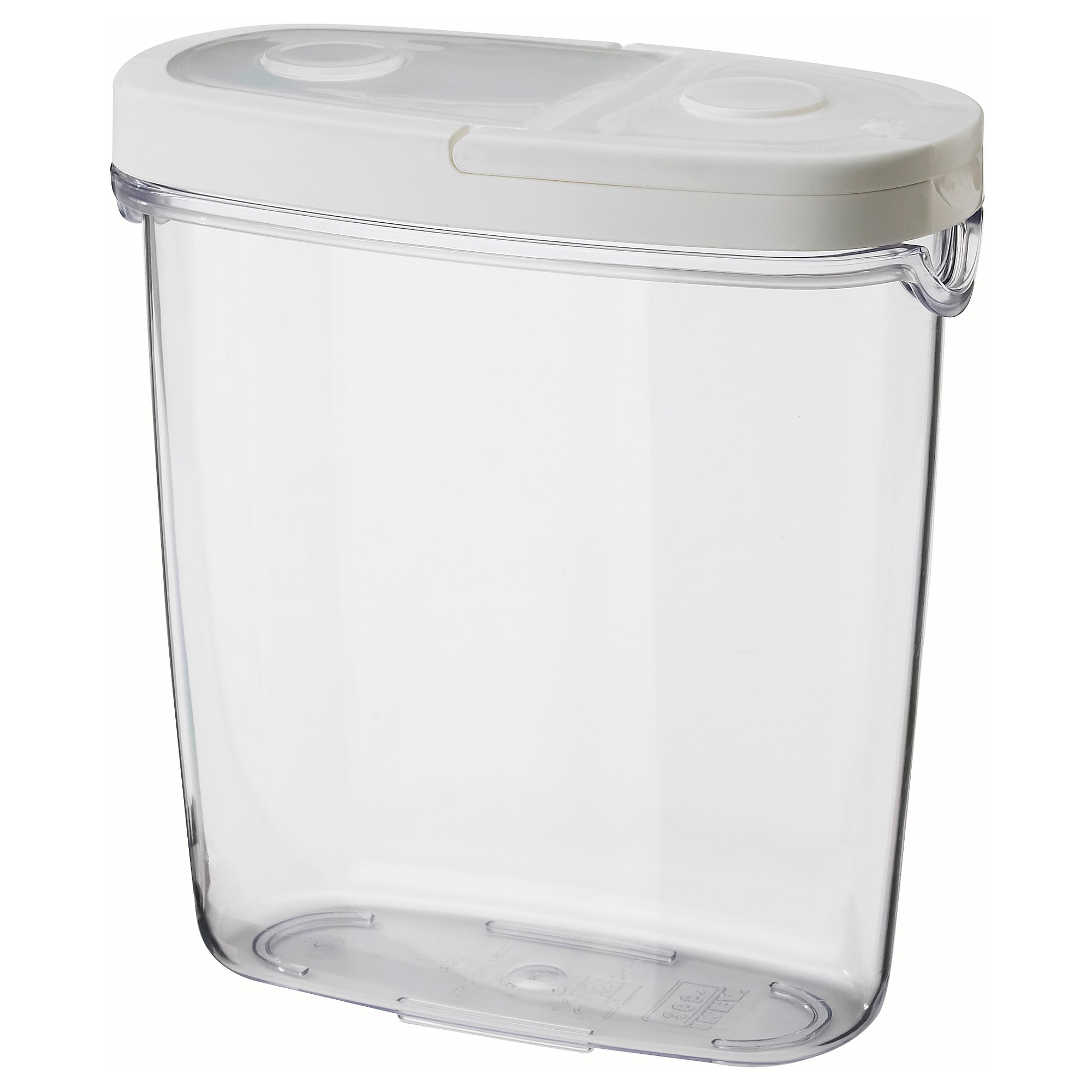 IKEA 365+ dry food jar with lid, clear, white Length: 7