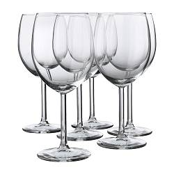 "SVALKA Red wine glass  Height: 7 "" Volume: 10 oz Package quantity: 6 pack  Height: 18 cm Volume: 30 cl Package quantity: 6 pack"