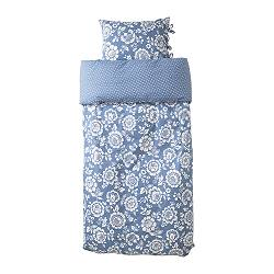 IKEA | home | Beds & mattresses | Bed textiles | Quilt covers | THISTED FLORA quilt cover and 2 pillowcases from ikea.com