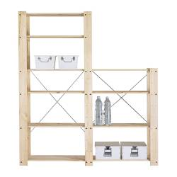 GORM 2 shelf sections, softwood Depth: 35 cm Height: 174 cm Width: 156 cm
