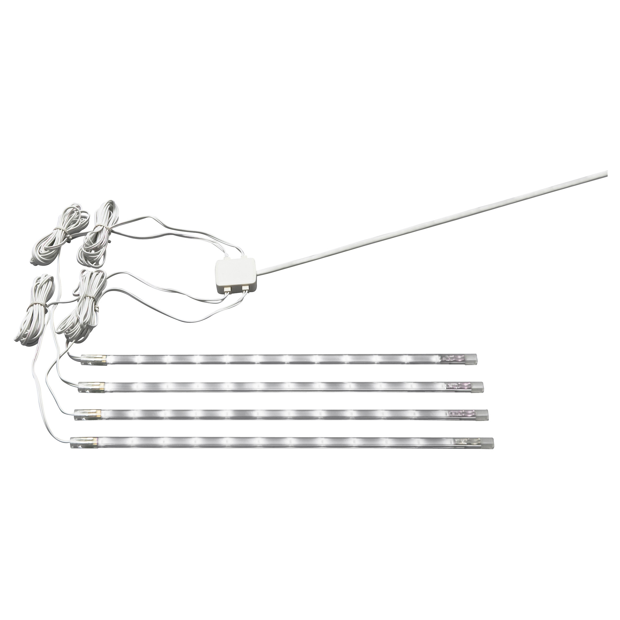 dioder led 4 piece light strip set white length 9 power cable lighting ikea