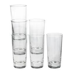 "GODIS glass, clear glass Height: 6 "" Volume: 14 oz Package quantity: 6 pack Height: 16 cm Volume: 40 cl Package quantity: 6 pack"