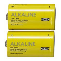 ALKALISK alkaline battery Package quantity: 2 pack Package quantity: 2 pack