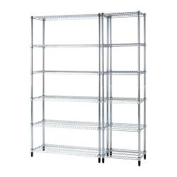 "OMAR 2 section shelving unit Width: 55 1/8 "" Depth: 14 1/8 "" Height: 72 1/2 "" Width: 140 cm Depth: 36 cm Height: 184 cm"