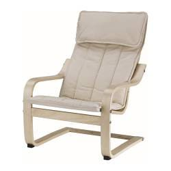 POÄNG children's armchair, Almås natural, birch veneer Width: 47 cm Depth: 60 cm Height: 68 cm