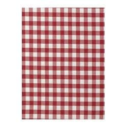 BERTA RUTA fabric, red, red/white big check Width: 150 cm Pattern repeat: 3 cm