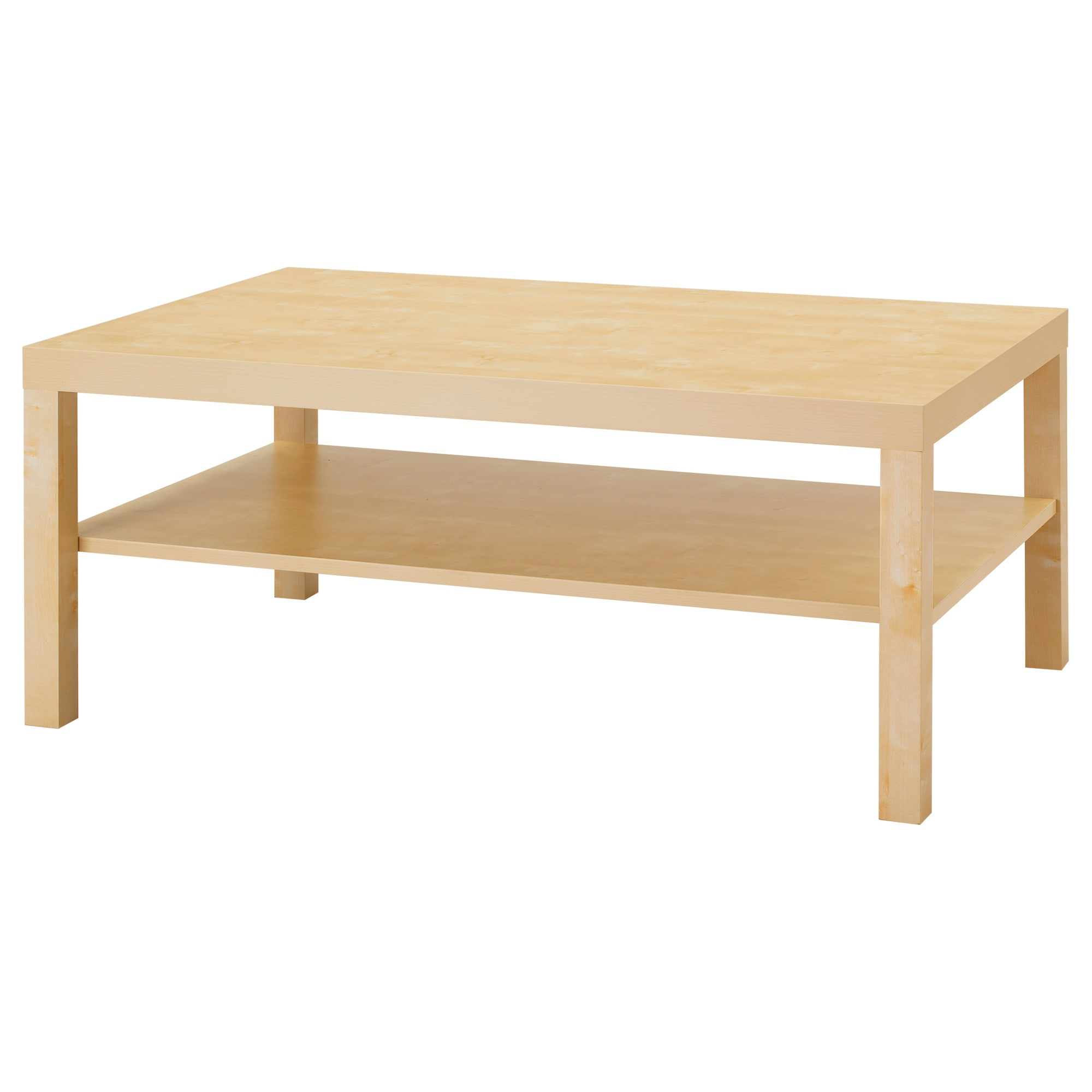 lack coffee table - birch effect - ikea