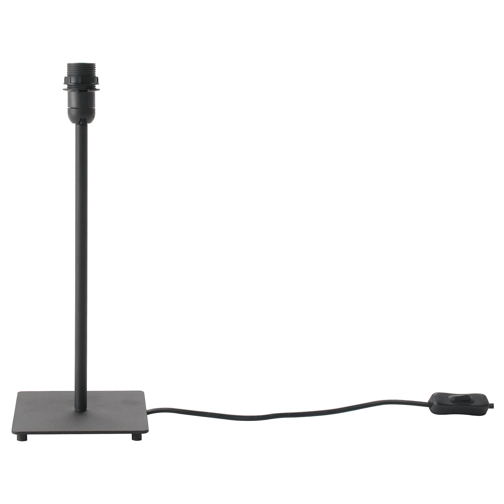 Table lamp height - Hemma Table Lamp Base With Led Bulb Black Height 14 Base Width