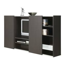 best inreda tv aufbkomb mit schiebet ren. Black Bedroom Furniture Sets. Home Design Ideas