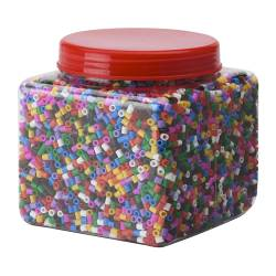 PYSSLA beads, assorted colours Width: 12 cm Height: 18 cm Weight: 700 g