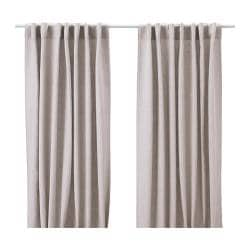 AINA curtains, 1 pair, natural colour Length: 300 cm Width: 145 cm Weight: 2.00 kg