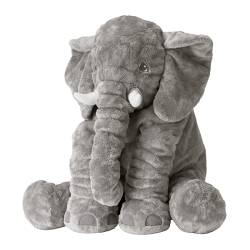 JÄTTESTOR soft toy, elephant, grey Length: 60 cm