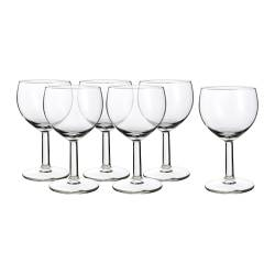 FÖRSIKTIGT wine glass, clear glass Height: 13 cm Volume: 16 cl Package quantity: 6 pack