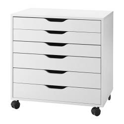 ALEX Drawer unit on casters - white - IKEA